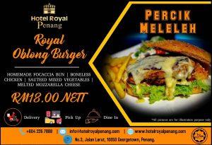 Royal Oblong Burger Percik Meleleh